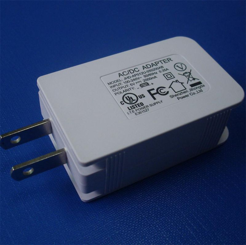 5V2A Tablet USB Charger for Us /Canada /Japan