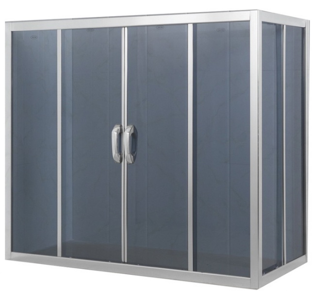 Without Tray 2 Side Sliding Door Bath Screen (ADL-8607)