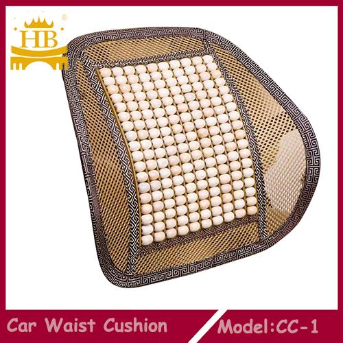 Woodbead and Mesh Car Backrest Waist Cushion