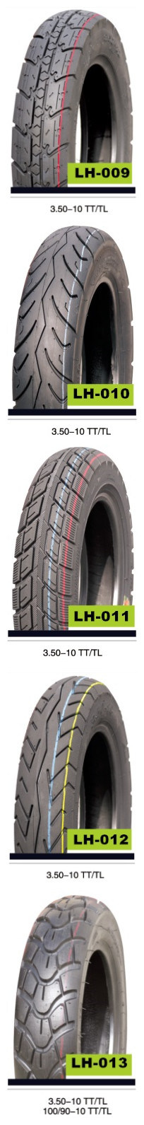 DOT Aproved Scooter Tubeless Motorcycle Tire for America Market (3.50-10)