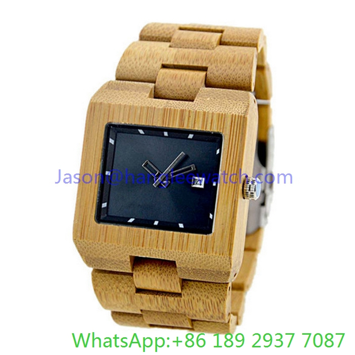 Fashion Square Wood Watch and Wooden Band for Man (Ja-150110)
