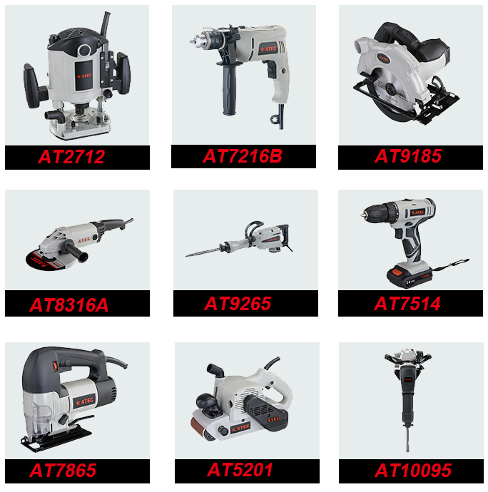 1010W 125mm/115mm/100mm Power Tool Angle Grinder (AT8524B)