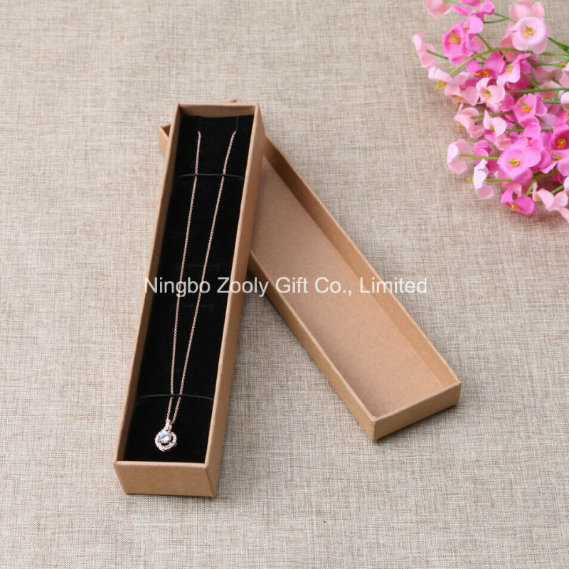 Wholesale DIY Kraft Paper Jewelry Gift Packing Box Sticked with Flower