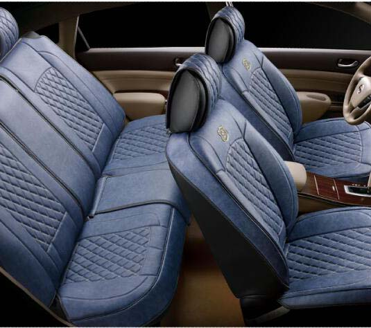 Car Seat Cover PVC Jean Style for 2 Seats