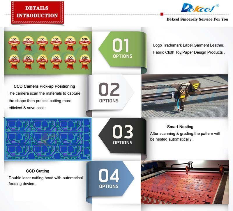 CCD Camera Laser Cutting Machine CNC Label/Logo/Leather/Fabric/Paper Visual Cutter