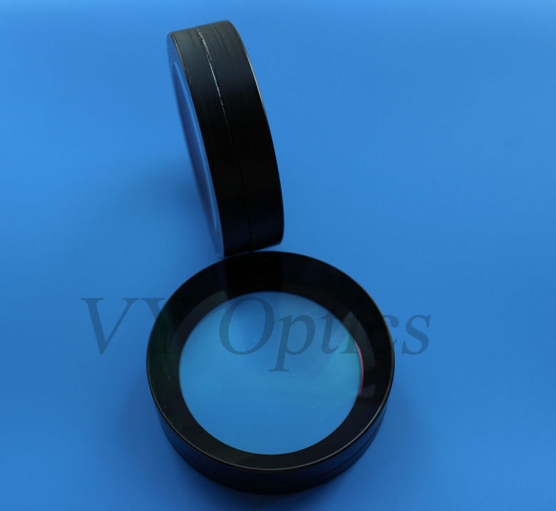 Optical Glued Spherical Lens for Underwater Camera with Black Coating