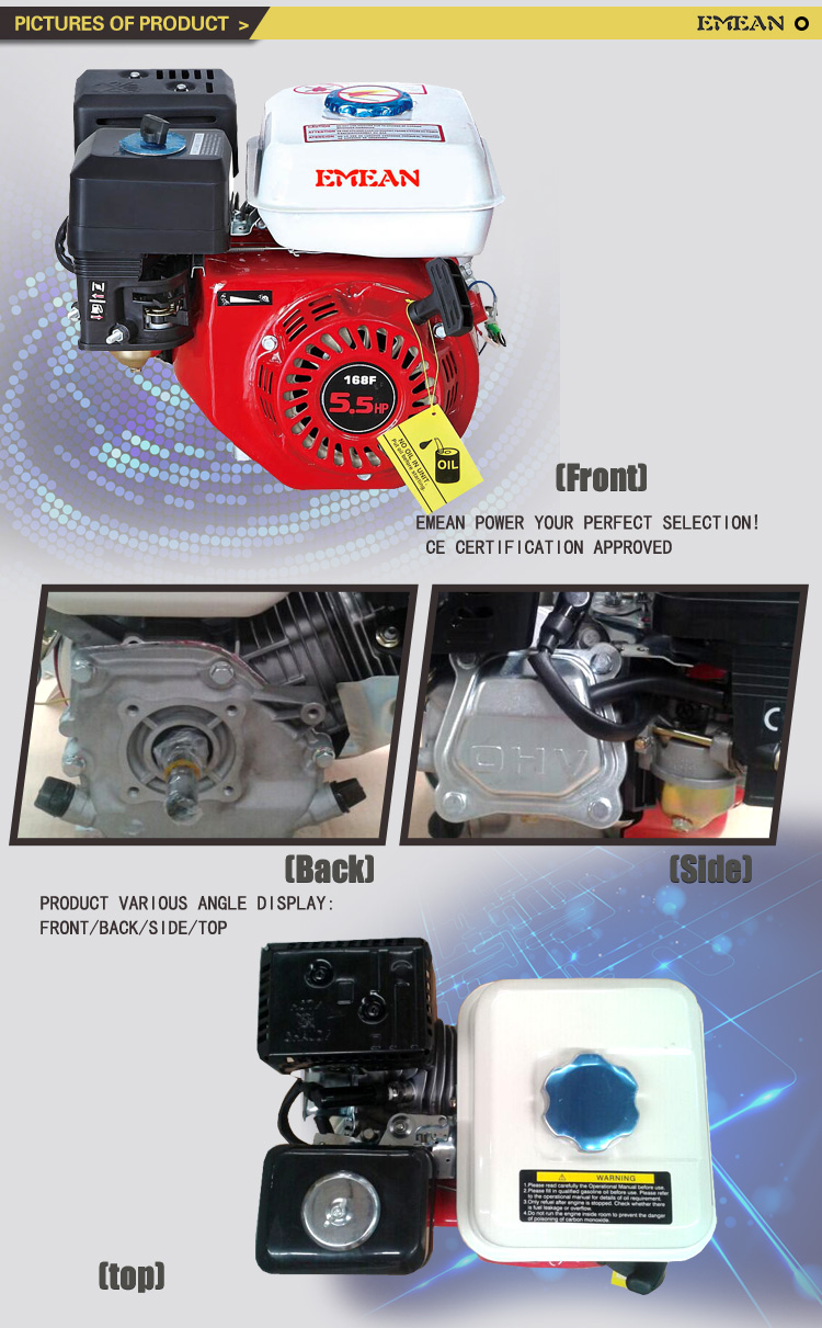General Gasoline to Match Equipment Gx160 Air-Cooled Engine