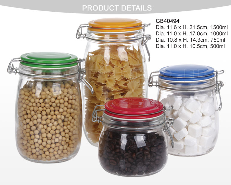 Hermetic Food Glass Jar Wholesale/Glass Sealed Jar
