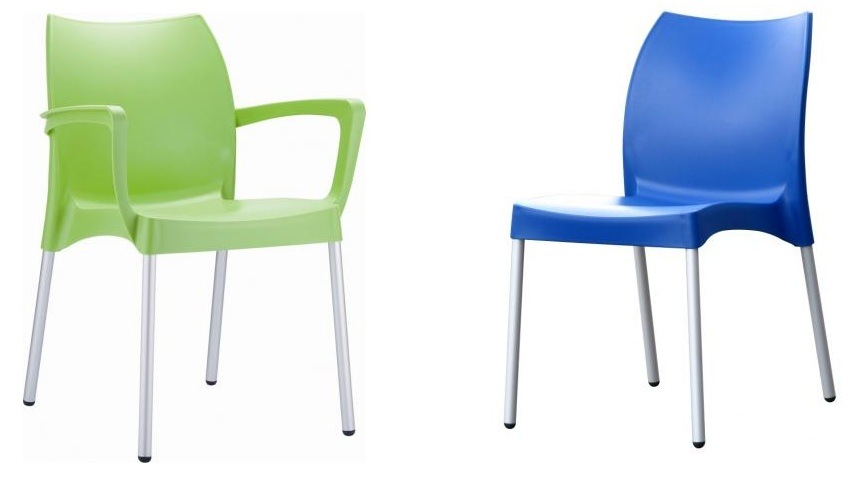 Injection Mould of Plastic Dining Chair with Four Metal Legs
