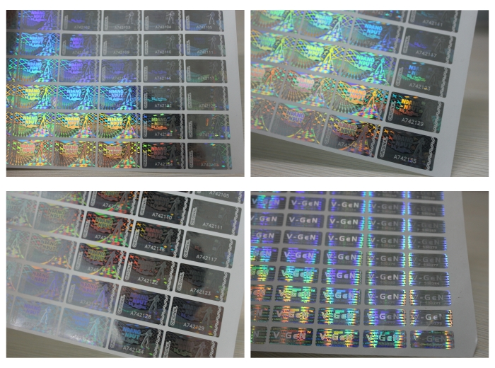 Holographic Transparent Laser Serial Number Hologram Stickers