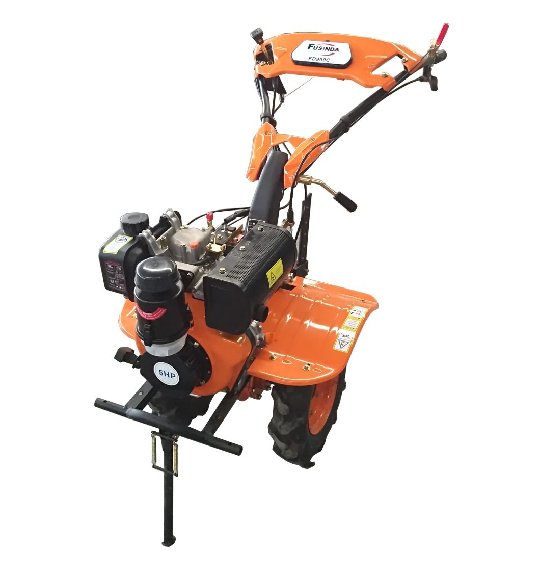 5HP Diesel Engine Power Tiller with New Engine and Power Light