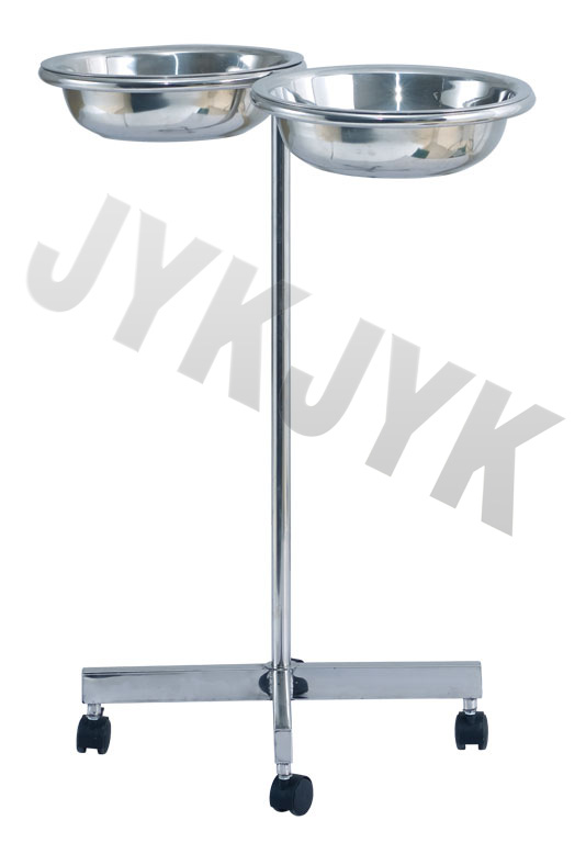 Stainless Steel Trolley with Double Basin