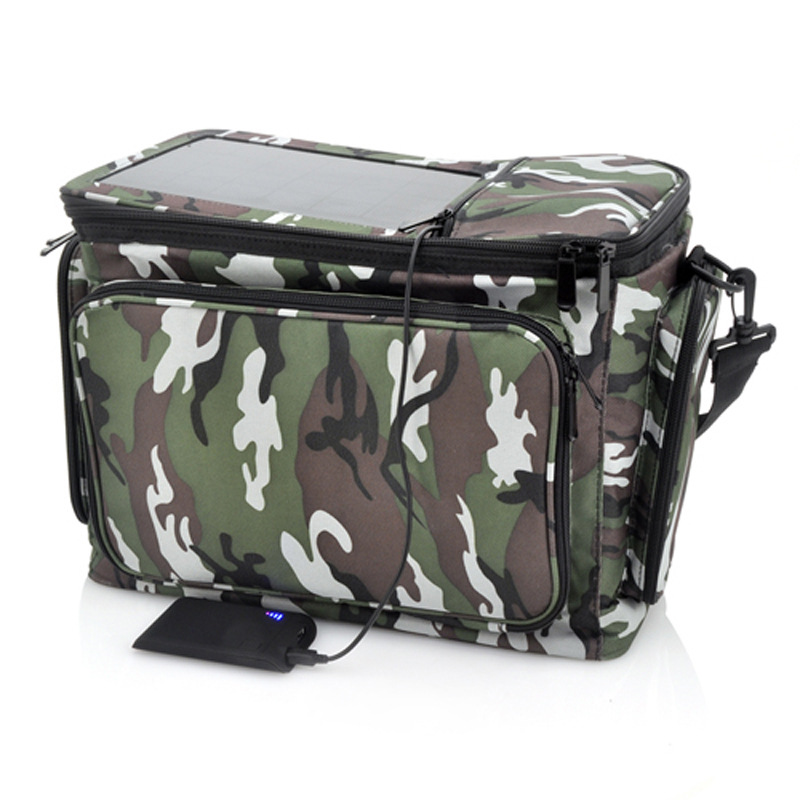 Waterproof Camouflage Solar Backpack Bag