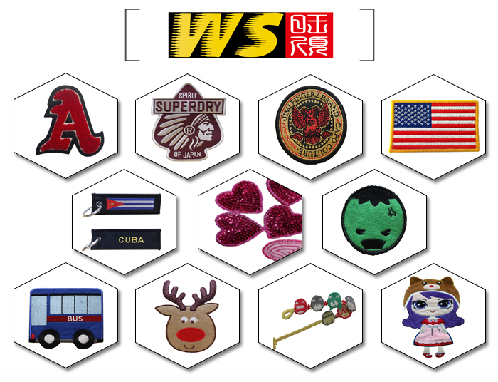 Cheap Price Custom Clothing Sewing on Plain Backing Patch
