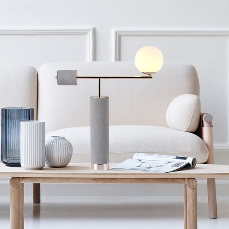 Modern E27 Marble Stone Table Lamp