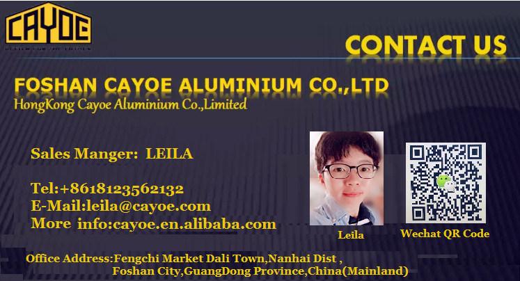 6063 T5 Windows and Doors Types of Aluminium Extruded Profiles
