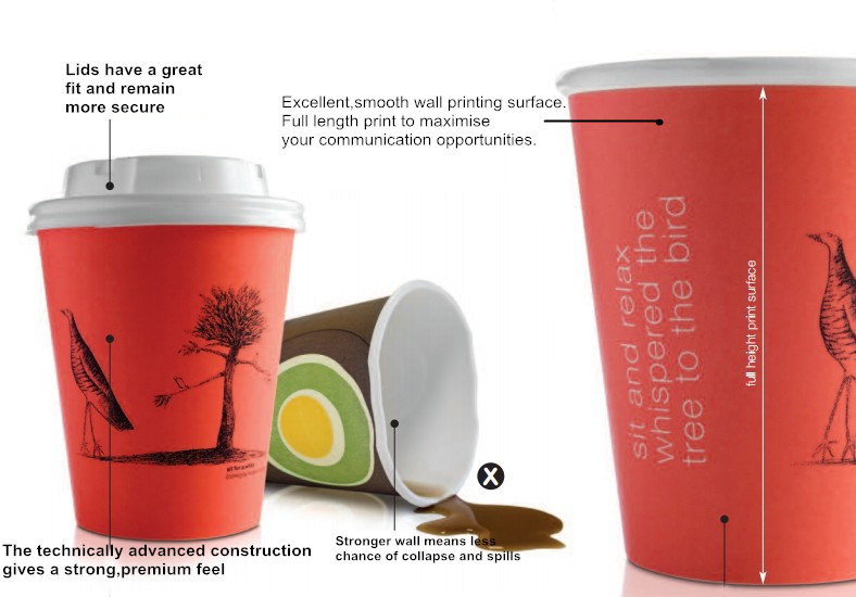 12 Ounce Recycled Insulated Singel Wall Hot Paper Cup