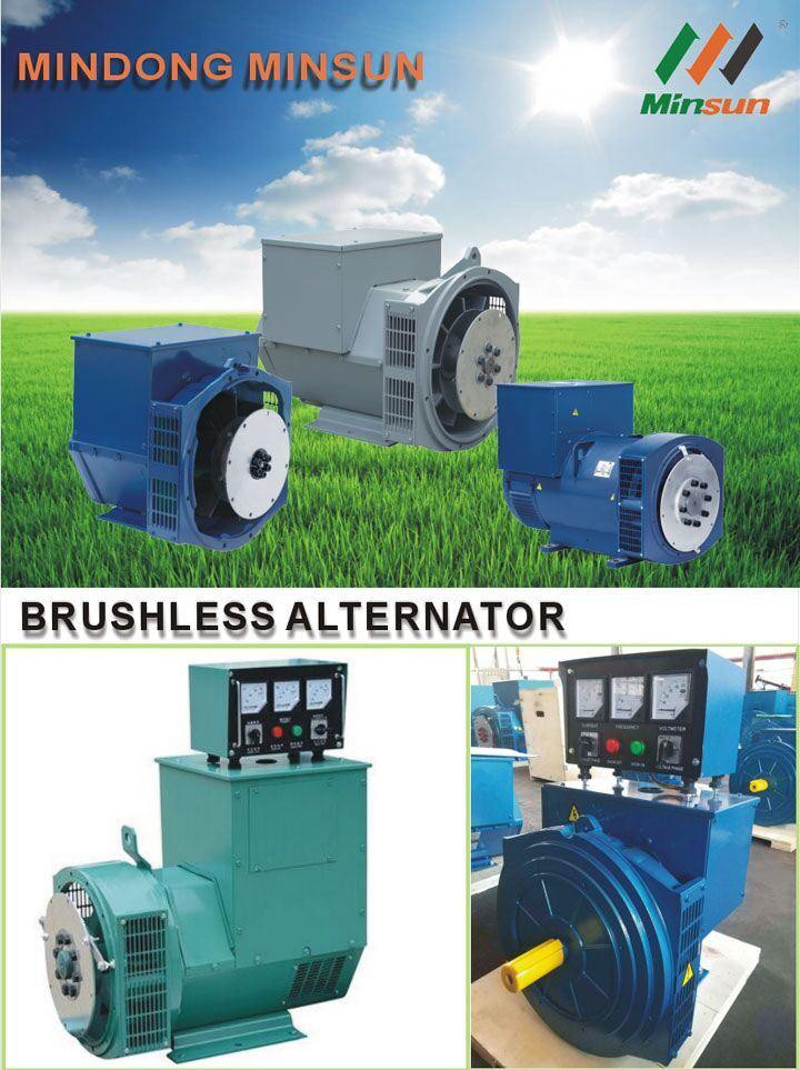 140 kVA Chinese Stamford Brushless Alternator Single Phase