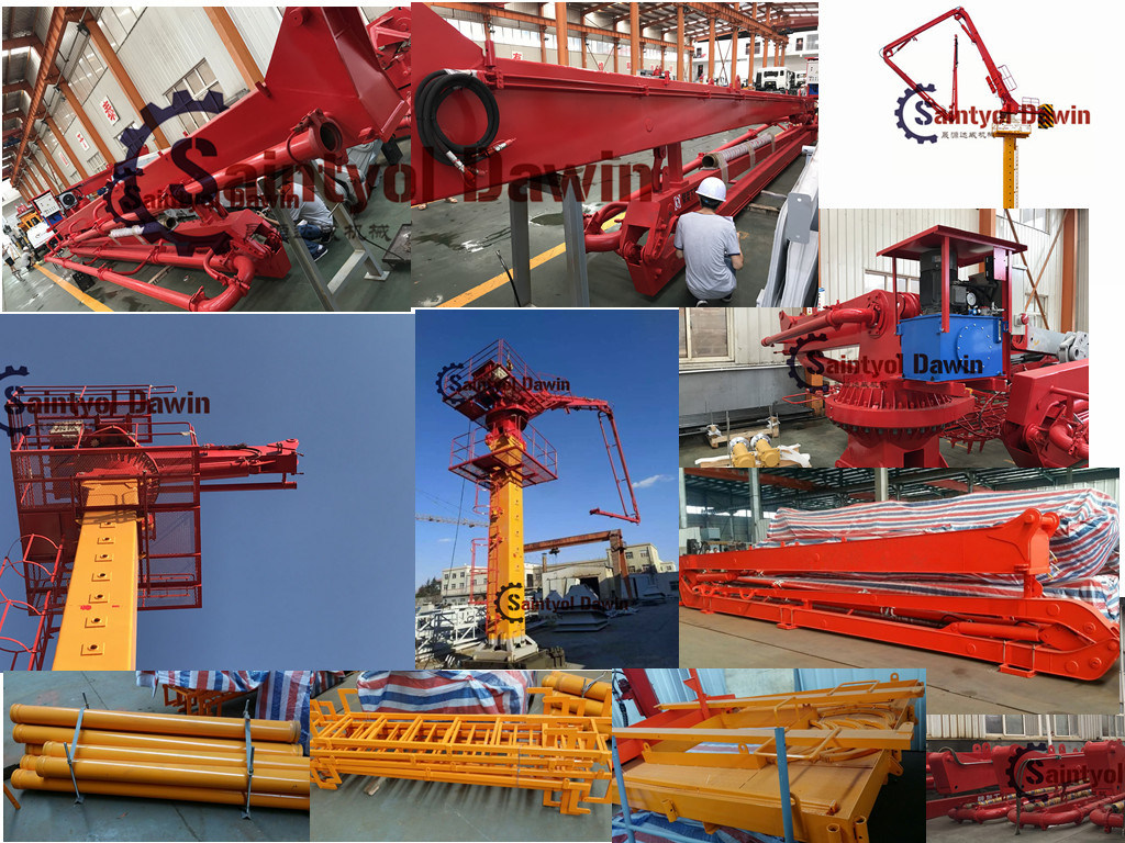 Rotary Distributing Boom Arm to Constructing Round Hydraulic Structure Application