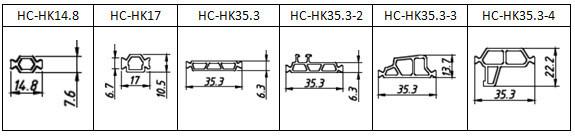 HK Type Polyamide Thermal Barrier Strip