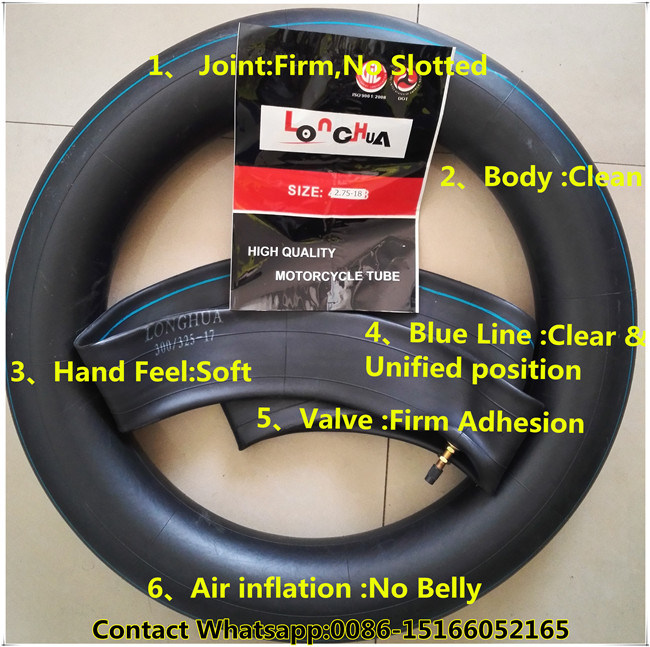 High Percent Natural Butyl Rubber Motorcycle Inner Tube (2.75-18)