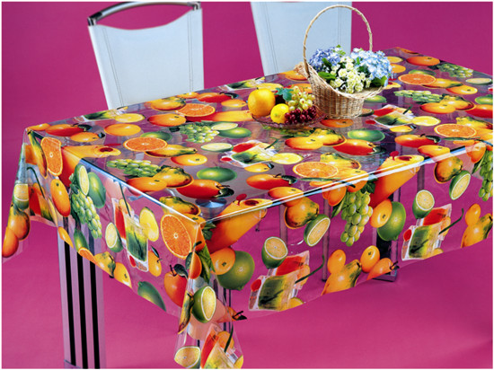 PVC Material, Oilproof, Waterproof Feature and Square Shape Table Cloth Plastic Clear Transparent