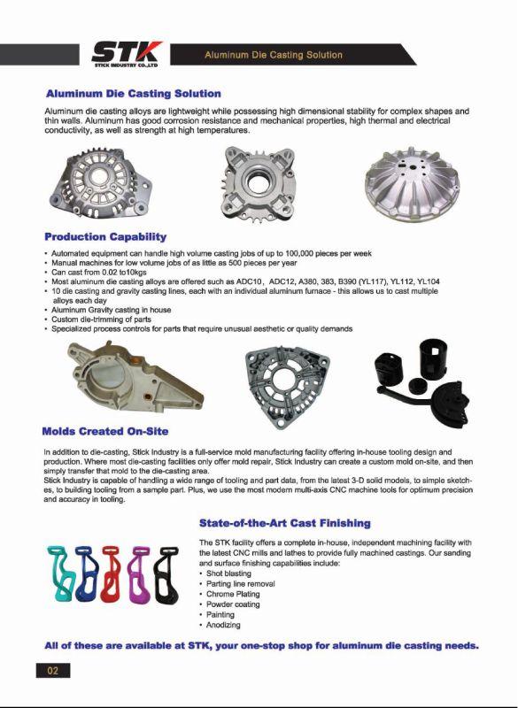 Aluminum Alloy Die Casting for Door and Window Part (STK-ADO0001)