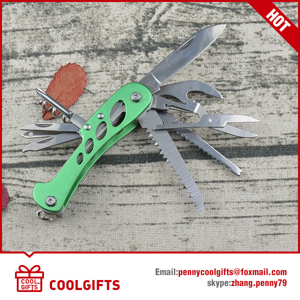 Stainless Steel Outdoor Tools Multi-Function Folding Pliers with Knife