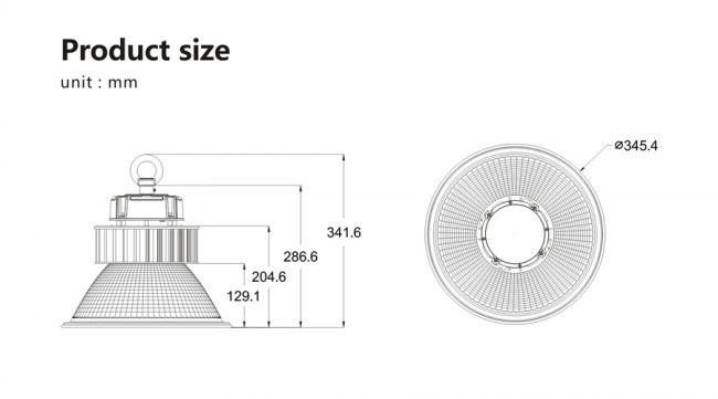 High Quality Good Price LED 100W High Bay Light Meanwell Driver