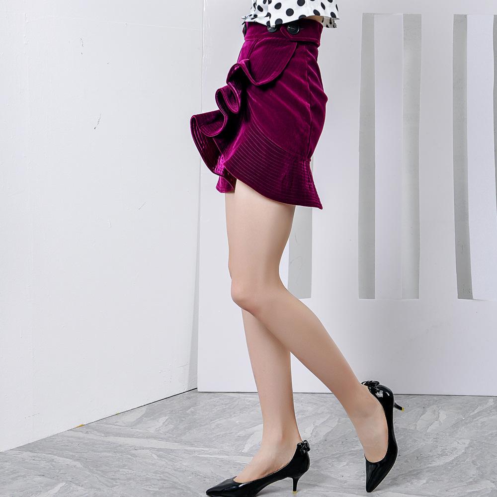Women Red Velvet Dress