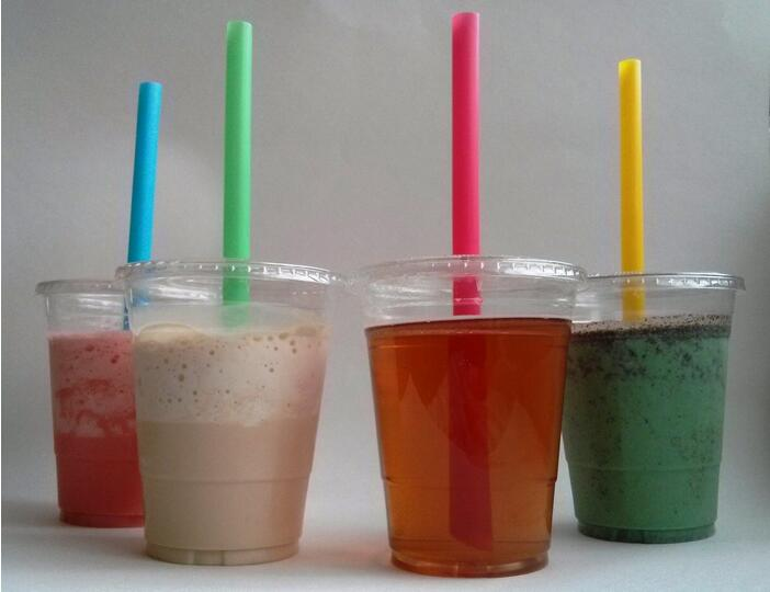 Plastic Cups for Bubble/Boba Tea, Milkshakes & Frozen Cocktails