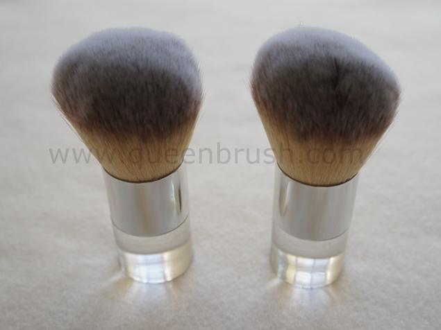 Three Tones Acrylic Handle Nylon Hair Kabuki Brush