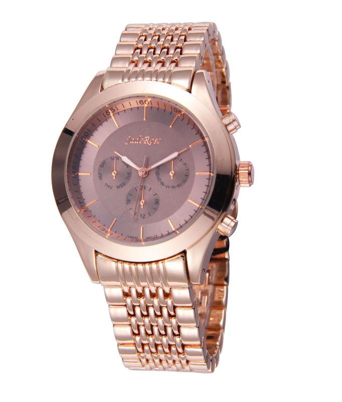 Rose Gold Alloy Men's Wrist Watch for Waterproof