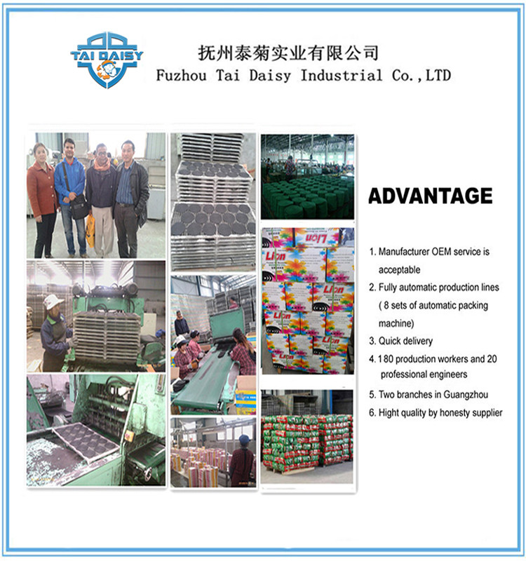 Smokeless Black Mosquito Coils Factory