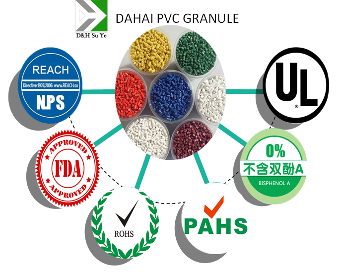 Green Soft PVC Plastic Particles PVC Granules PVC Compound