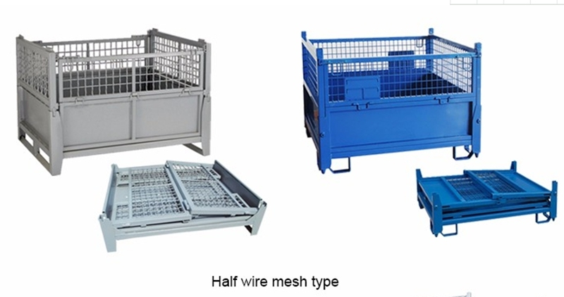 Foldable Wire Mesh Pallet Cage /Storage Container Box/Steel Pallet