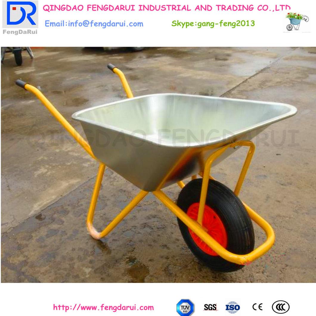 Farm Garden Tool Cart Steel Structure Wheel Barrow Wb6404