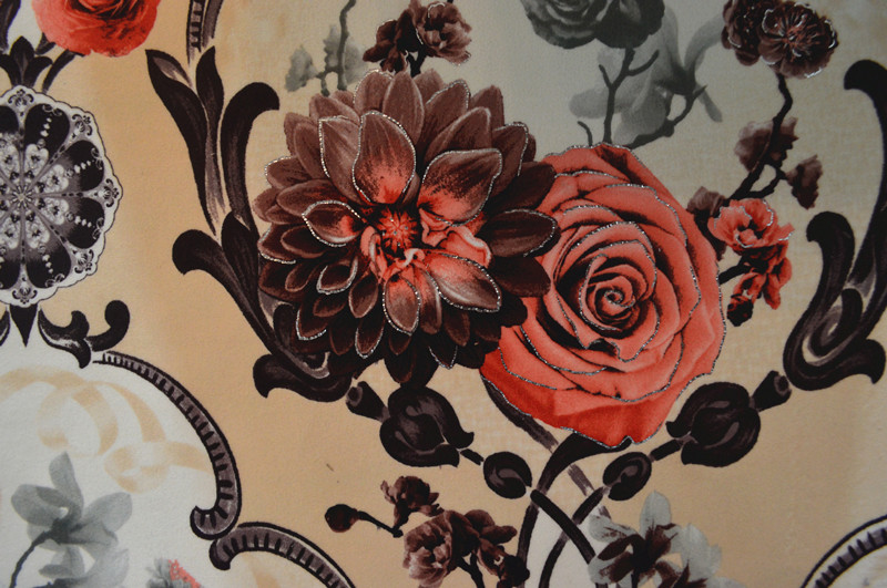 Hot Silver Prints Fabric
