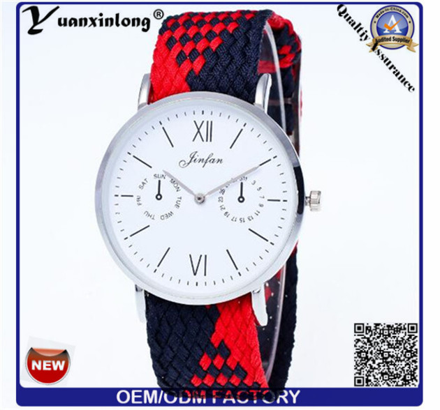 Yxl-201 Canvas Woven Strap Watch Military Marine Nato Nylon Watch Men Quartz Hot Sale Casual Wrist Watch