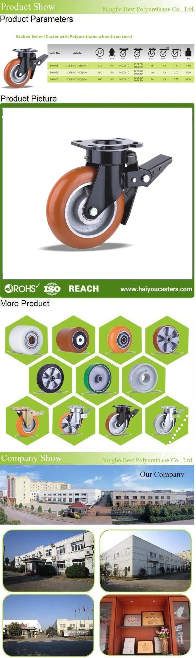 Swivel Caster With Polyurethane Wheel