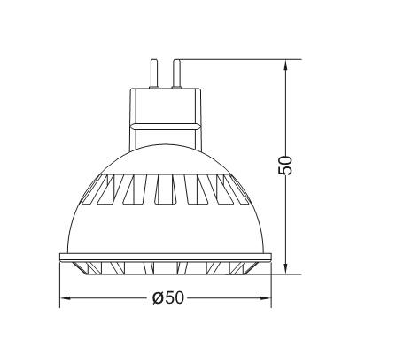 New AC/DC 12V Ce RoHS GU10 MR16 5W LED Lamp