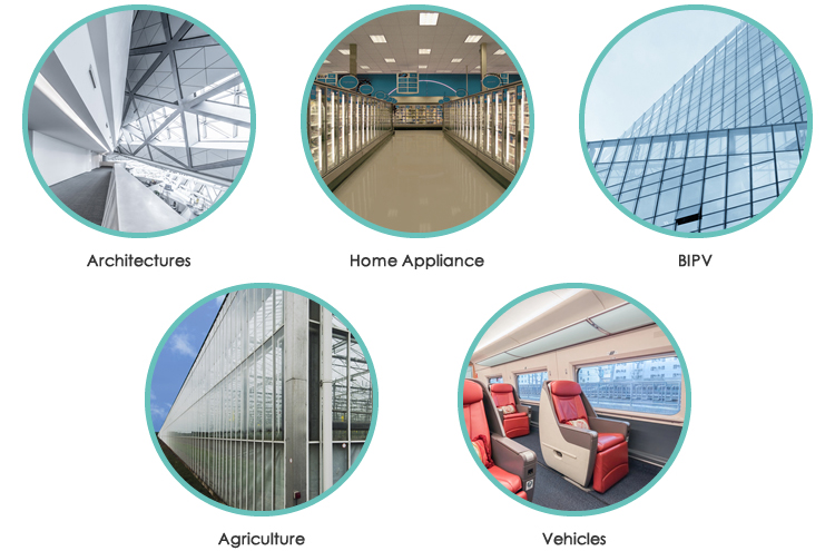 Landvac Safey Flat Vacuum Glass Brick for Freezer
