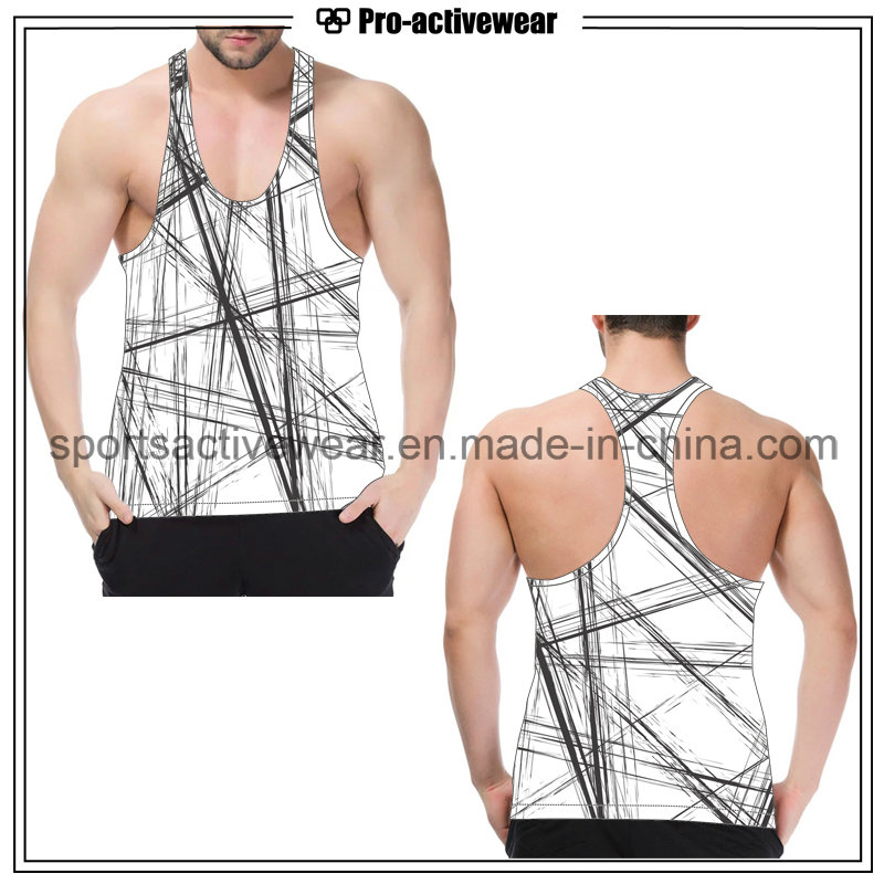 in Stock Fitness Fashion Hot Sale Men Tank Top