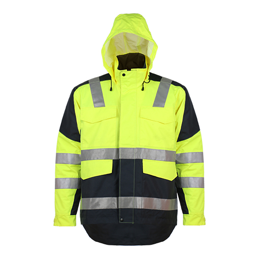 Class3 En20471 300d Oxford with PU Coating Reflective Safety Jacket