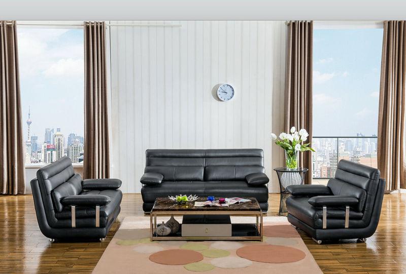 High Quality 1+2+3 Europea Type Genuine Leather Sofa (M0415)