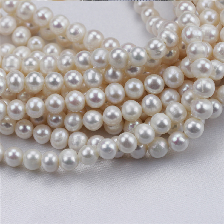 8-9mm Wholesale Price Natural White Cultured Ivory Pearl Bead