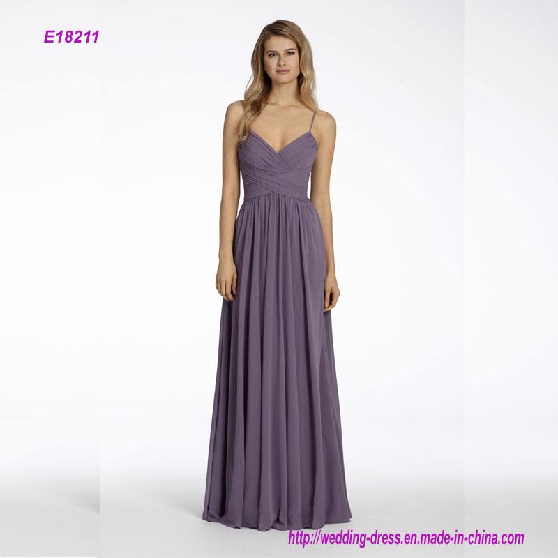 Chiffon A-Line Bridesmaid Dress with Draped Bodice