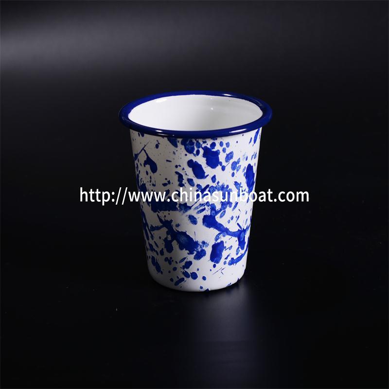 Sunboat Enamel Tumbler Mugs with No Handle Kitchenware