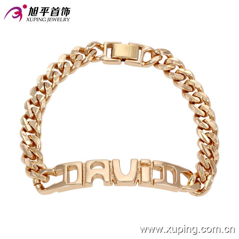 Xuping Wholesale High Quality Fashion 18k Gold Imitation Jewelry Bracelet -73980