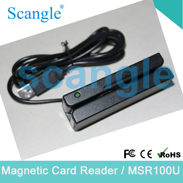 Track 3 Mini Portable Magnetic Strip Card Reader/ with Dual-Direction Read Capability